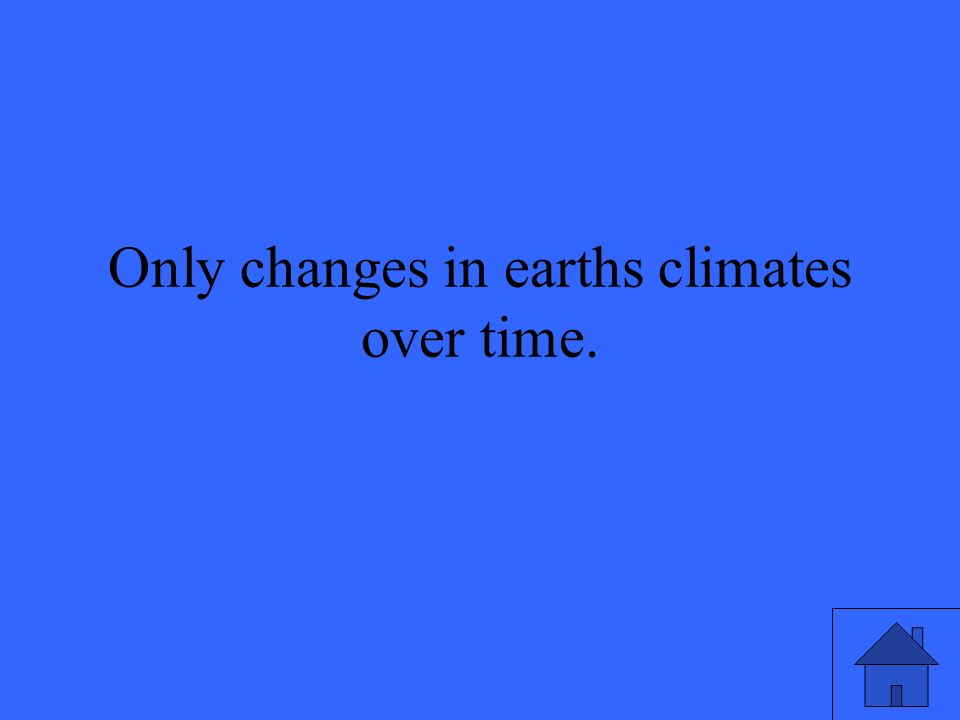 Only changes in earths climates over time.