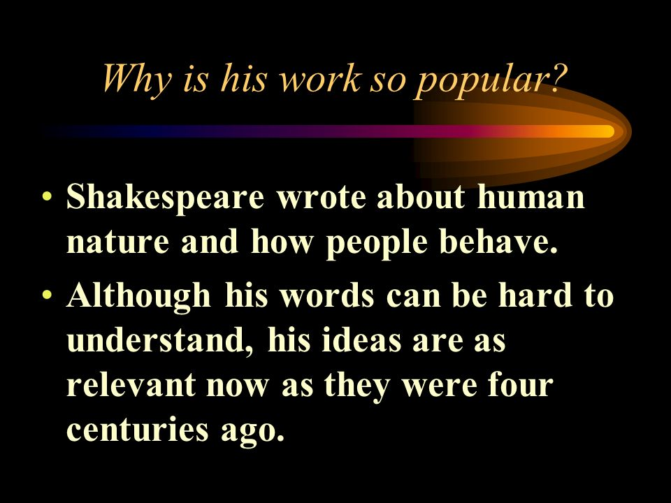 Shakespeares Career By 1592- actor and playwright 1594- charter member of Lord Chamberlain's Men 1603- Changed to Kings Men Retired in 1612 Wrote 37 p