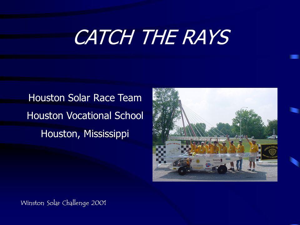 CATCH THE RAYS Houston Solar Race Team Houston Vocational School Houston, Mississippi Winston Solar Challenge 2001