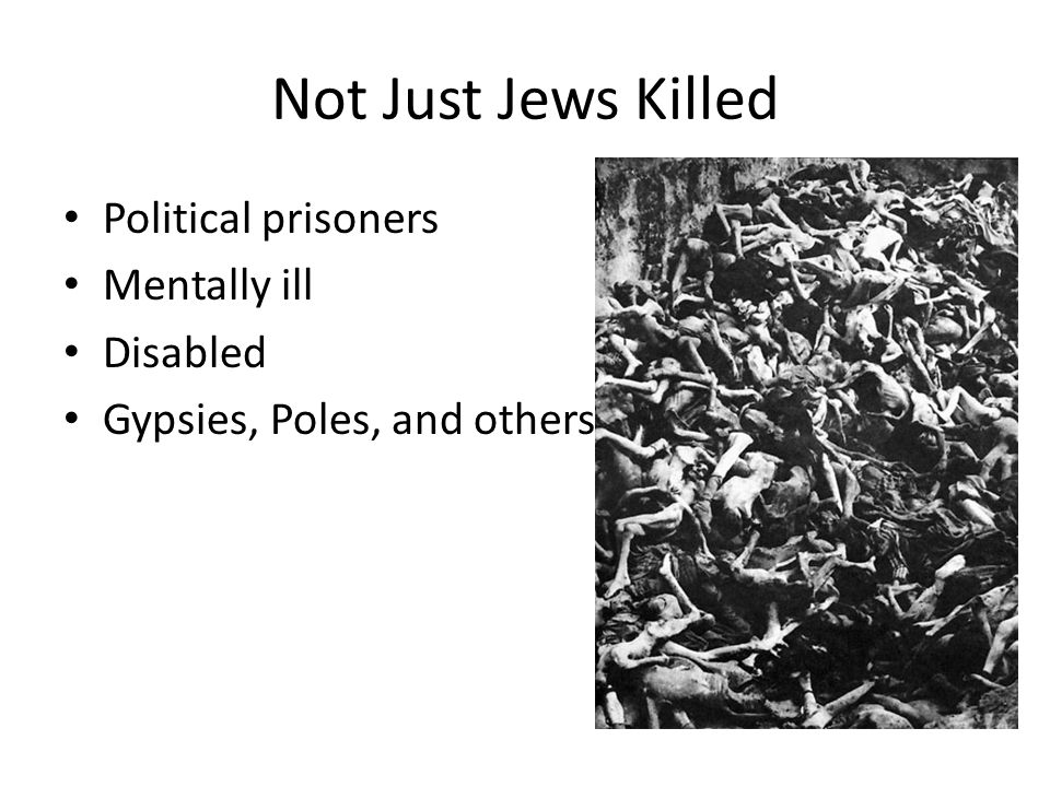 Not Just Jews Killed Political prisoners Mentally ill Disabled Gypsies, Poles, and others