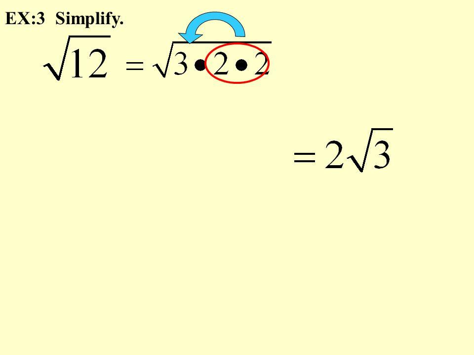 EX:3 Simplify.