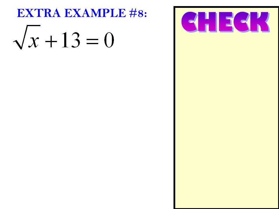 EXTRA EXAMPLE #8: