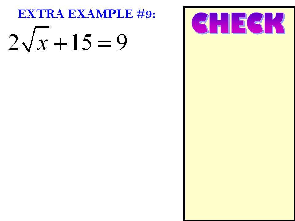 EXTRA EXAMPLE #9: