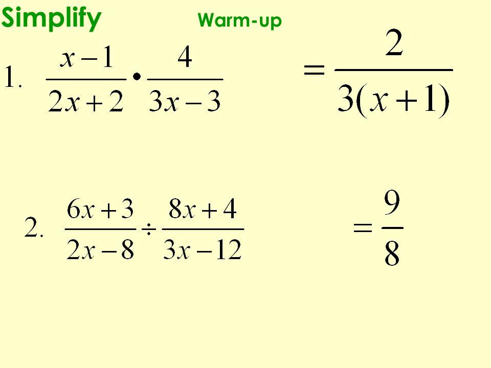 Simplify Warm-up