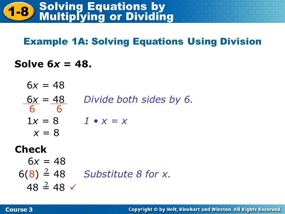 Solve –9y = 45.