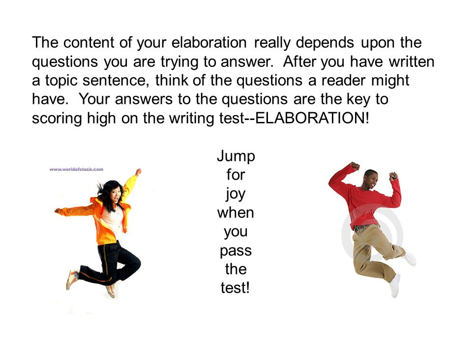 The content of your elaboration really depends upon the questions you are trying to answer.