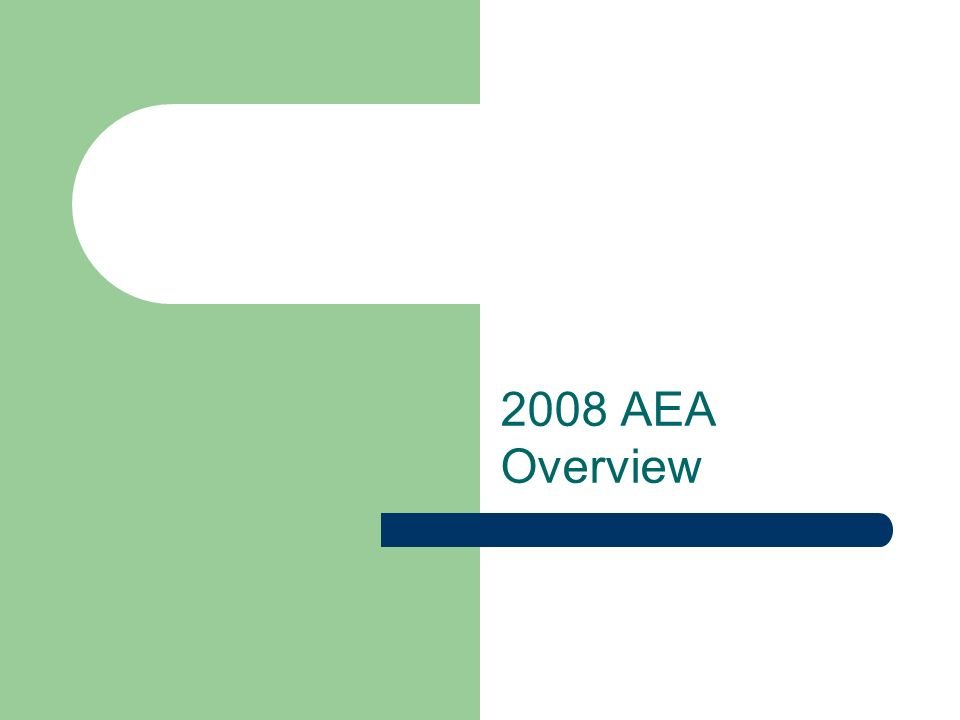 2008 AEA Overview