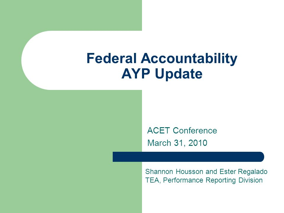 12 2010 Preview: AYP Federal Caps (cont.) Review of the 1% Federal Cap Students are selected randomly from TAKS-Alt results.