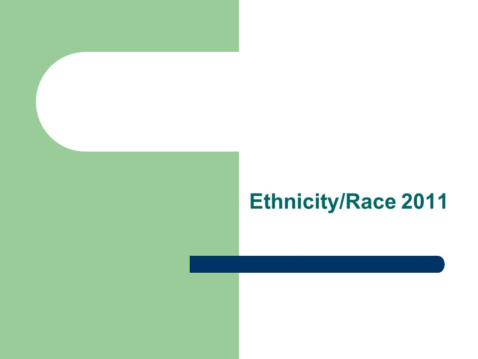 Ethnicity/Race 2011