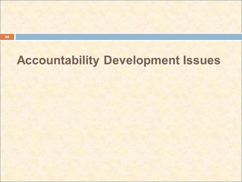 Accountability Development Issues 36