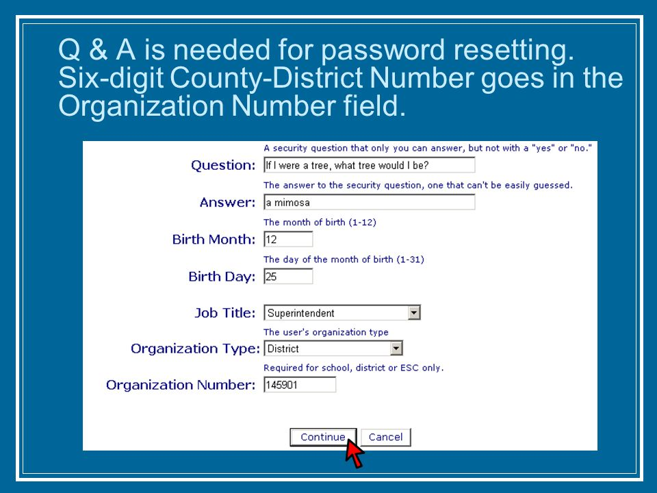 Q & A is needed for password resetting.