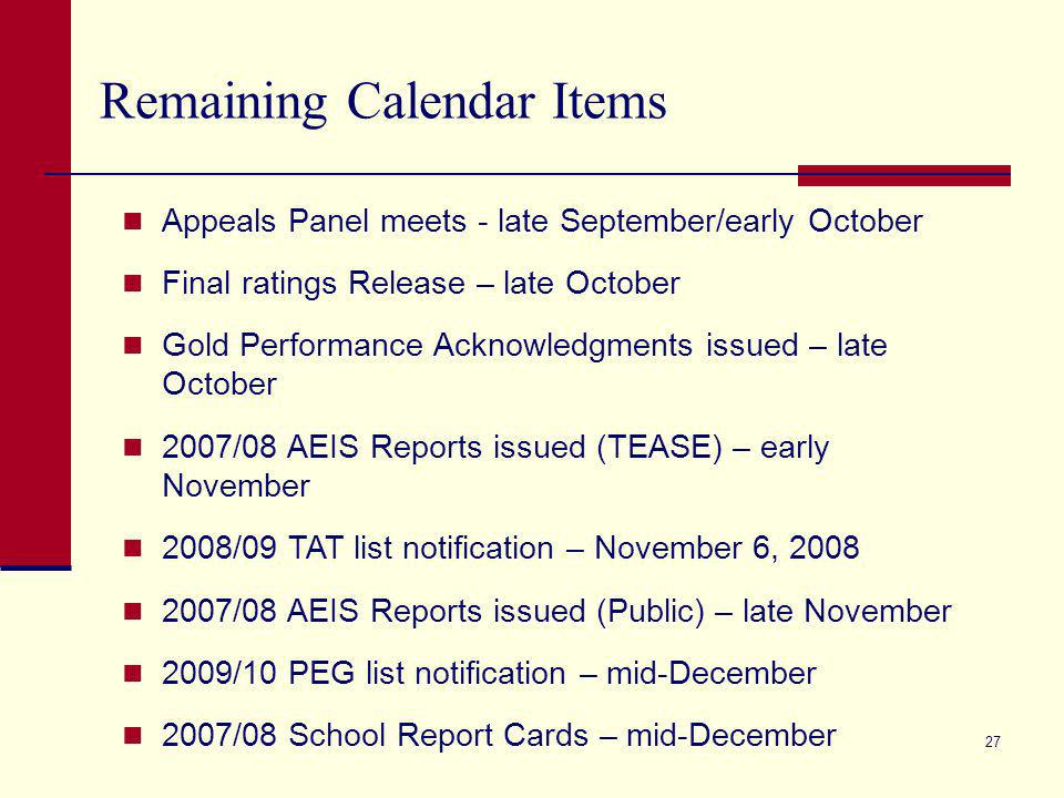 26 August 15, 2008 is appeals deadline (postmarked).