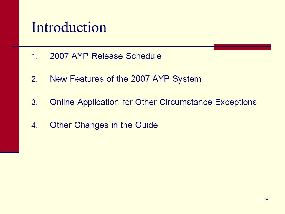 2007 AYP Guide