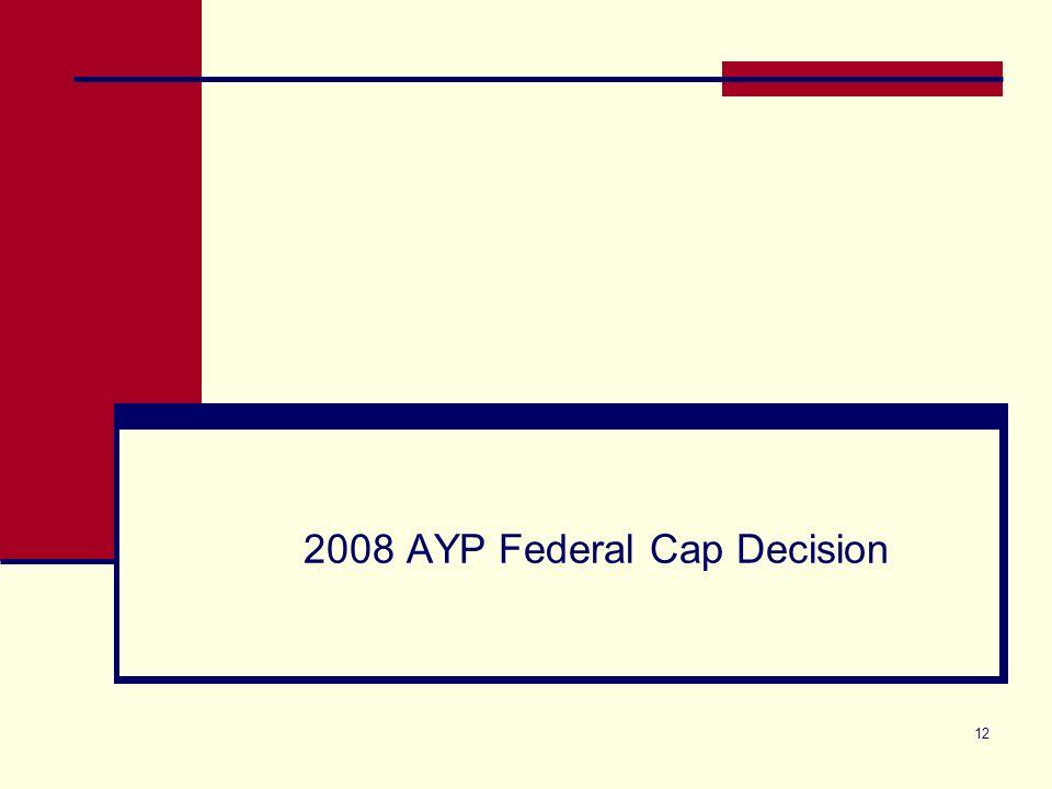 12 2008 AYP Federal Cap Decision