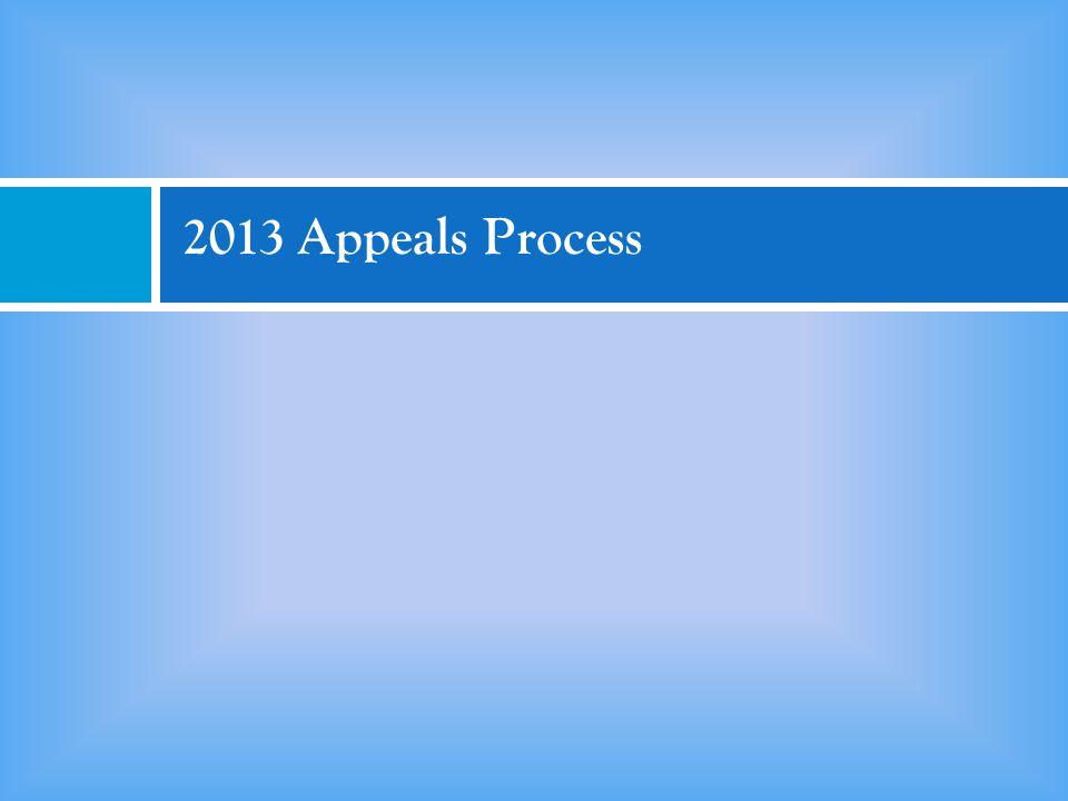 2013 Appeals Process