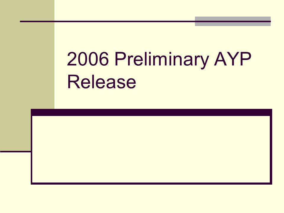 2006 Preliminary AYP Release