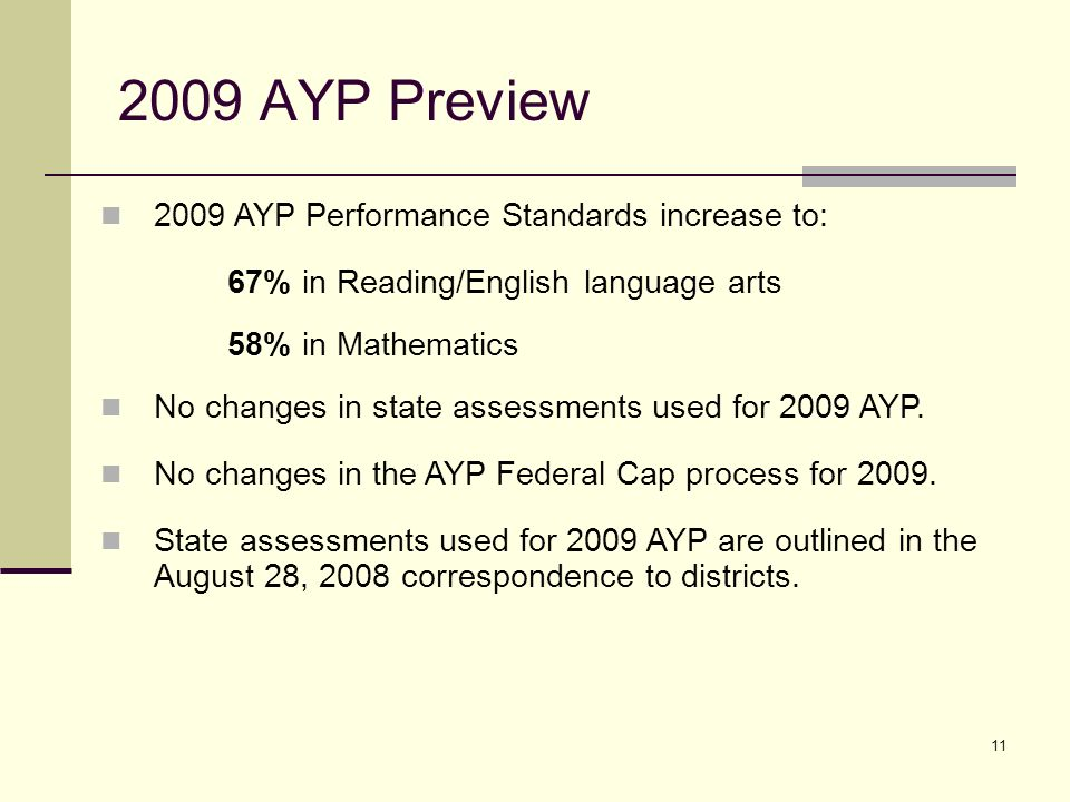12 2009 Preview: Assessments * Students in their First Year in U.
