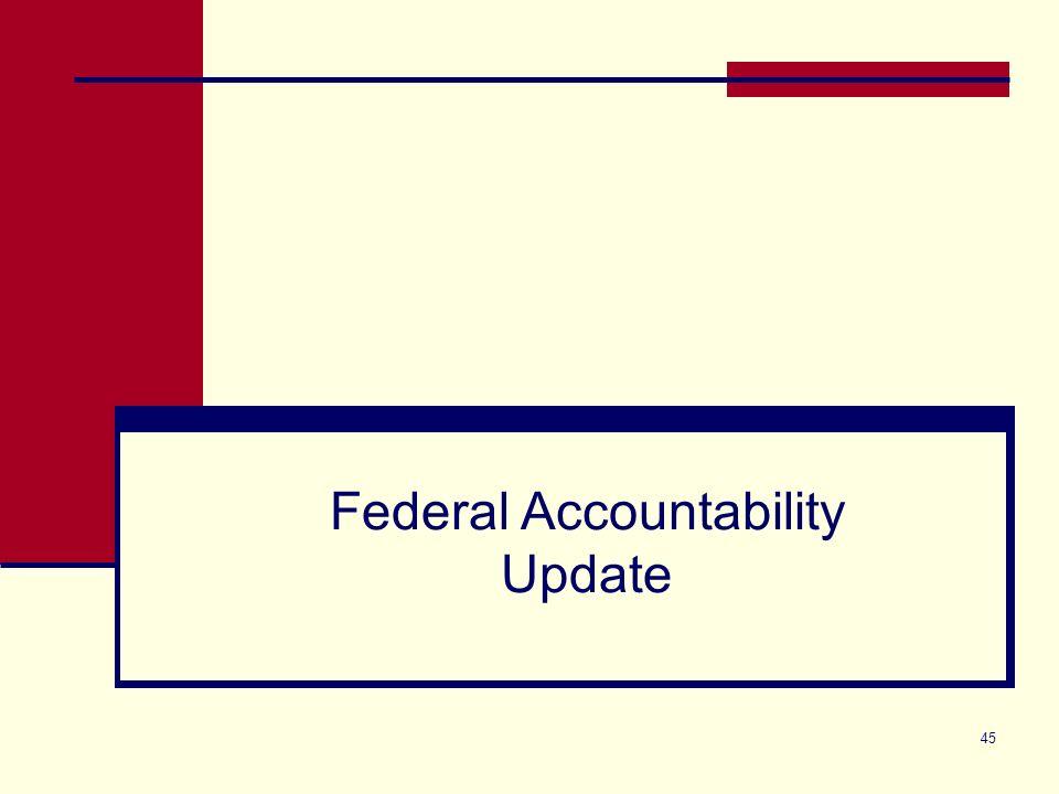 45 Federal Accountability Update