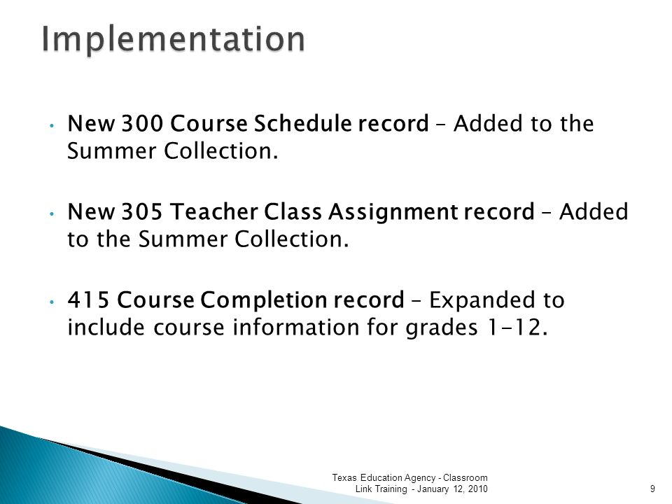 New 300 Course Schedule record – Added to the Summer Collection.