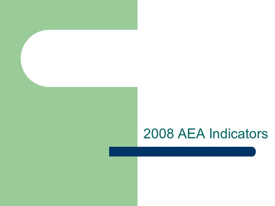 2008 AEA Indicators
