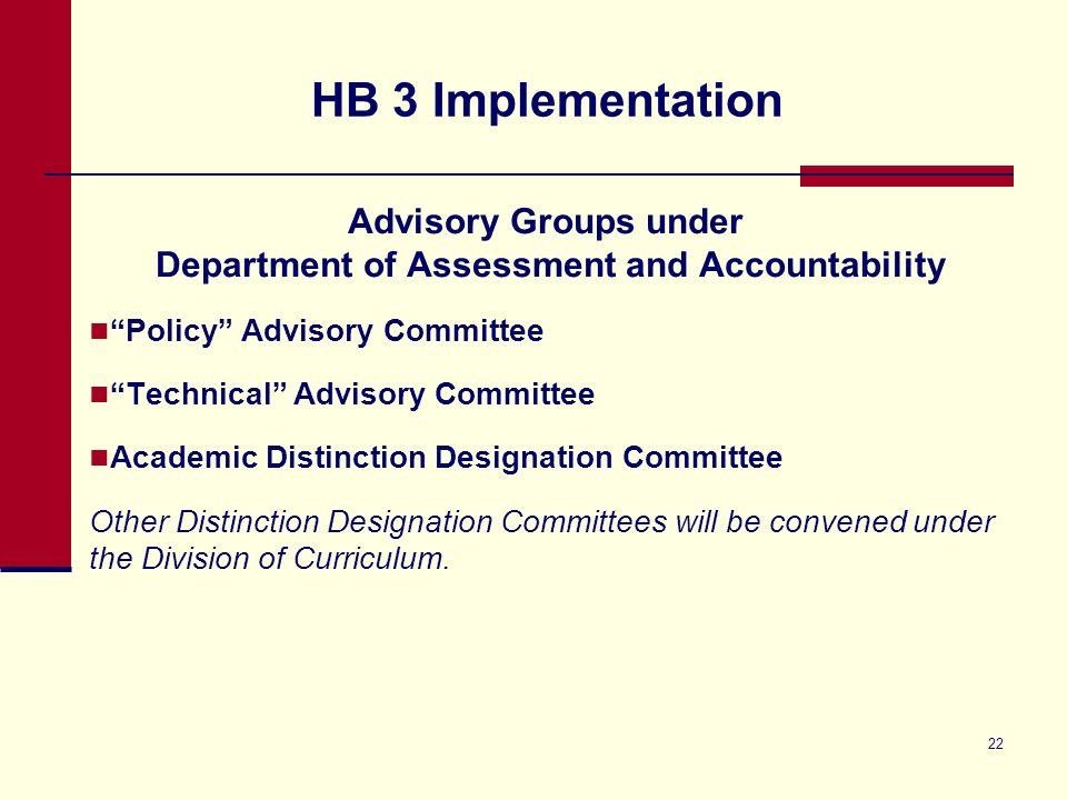 House Bill (HB) 3 Update