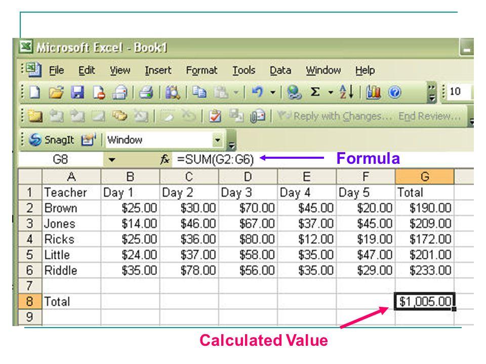 Calculated Value Formula