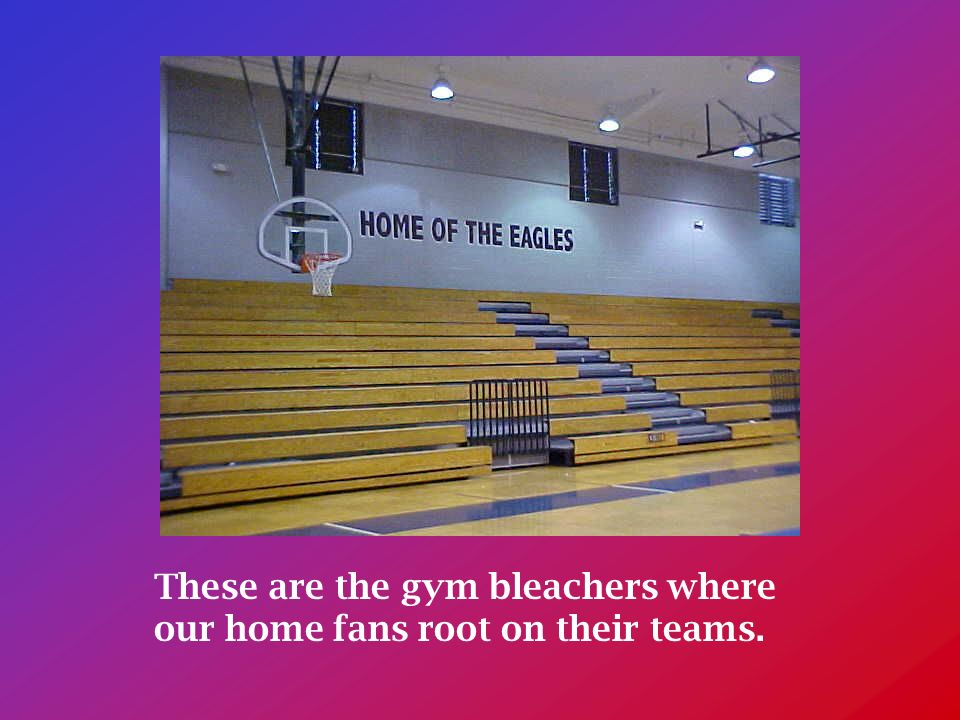These are the gym bleachers where our home fans root on their teams.