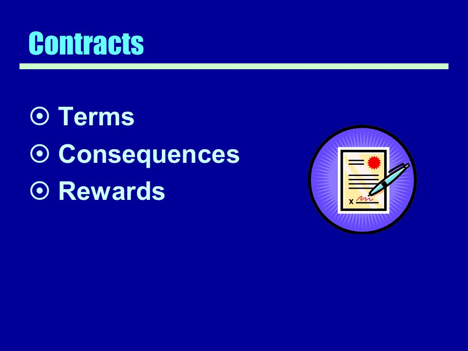 Contracts Terms Consequences Rewards
