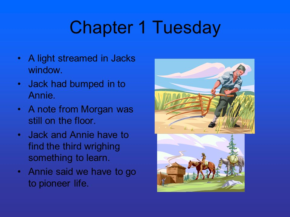 Chapter 1 Tuesday A light streamed in Jacks window.