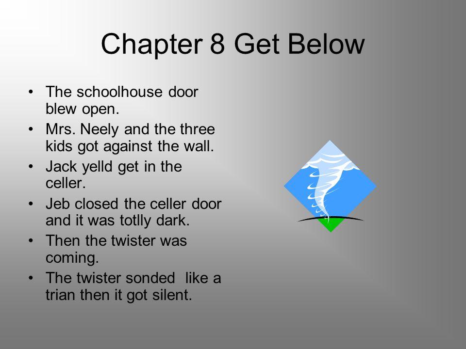 Chapter 8 Get Below The schoolhouse door blew open.