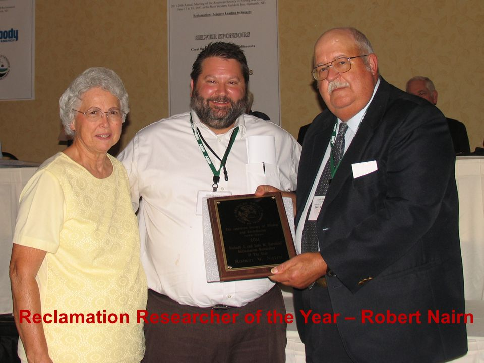 Reclamation Researcher of the Year – Robert Nairn