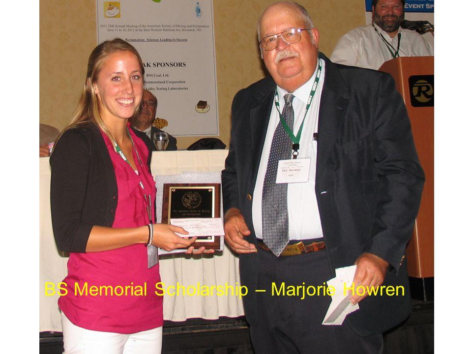 BS Memorial Scholarship – Marjorie Howren