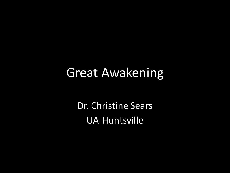 Talk amongst yourselves… Heres your topic: The Great Awakening was neither great nor an awakening.