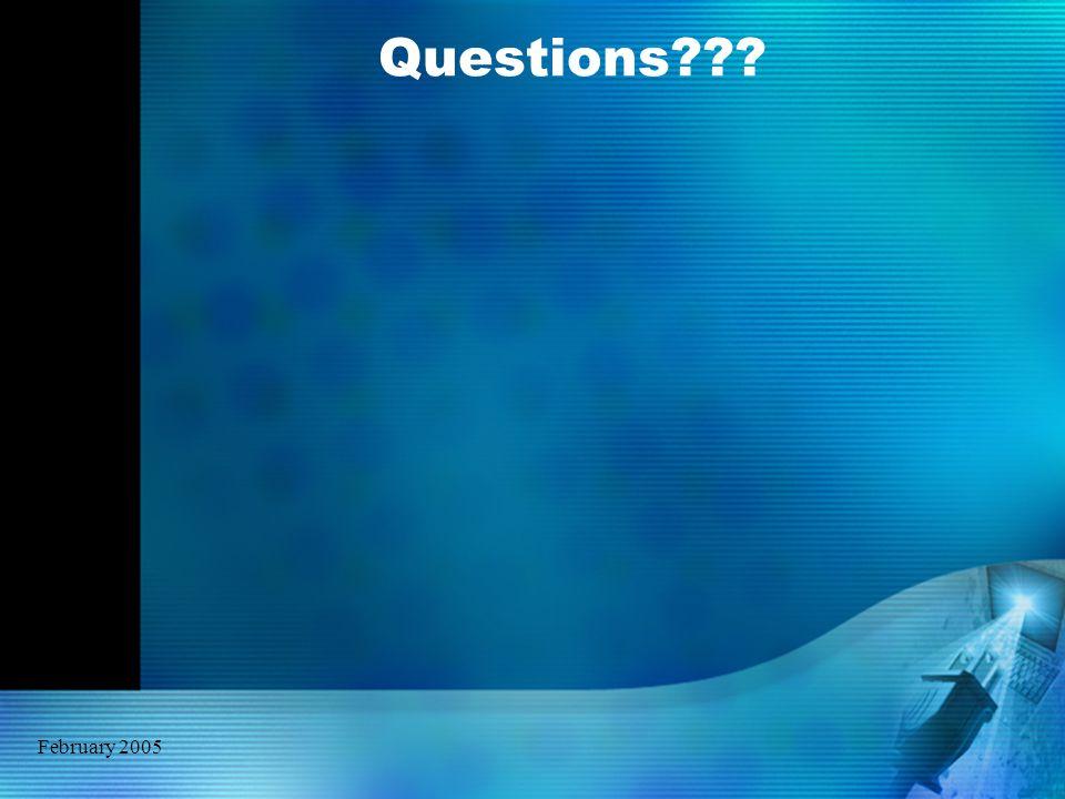 February 2005 Questions