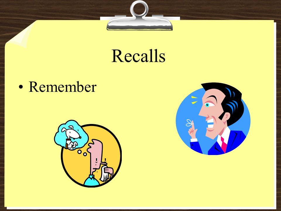 Recalls Remember