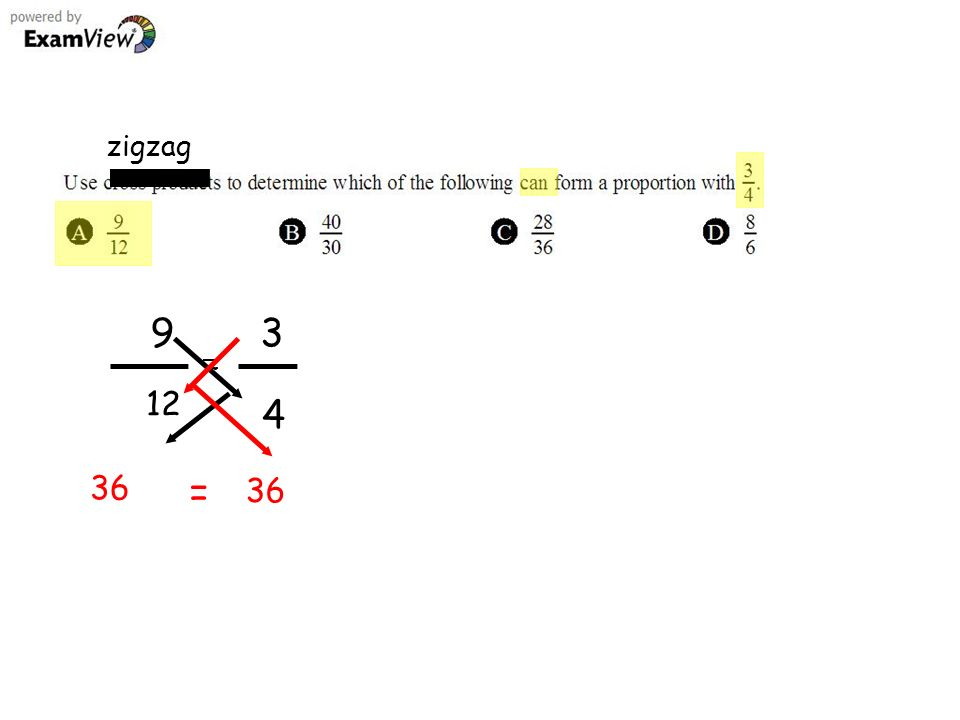 zigzag 9 12 3 4 36 =
