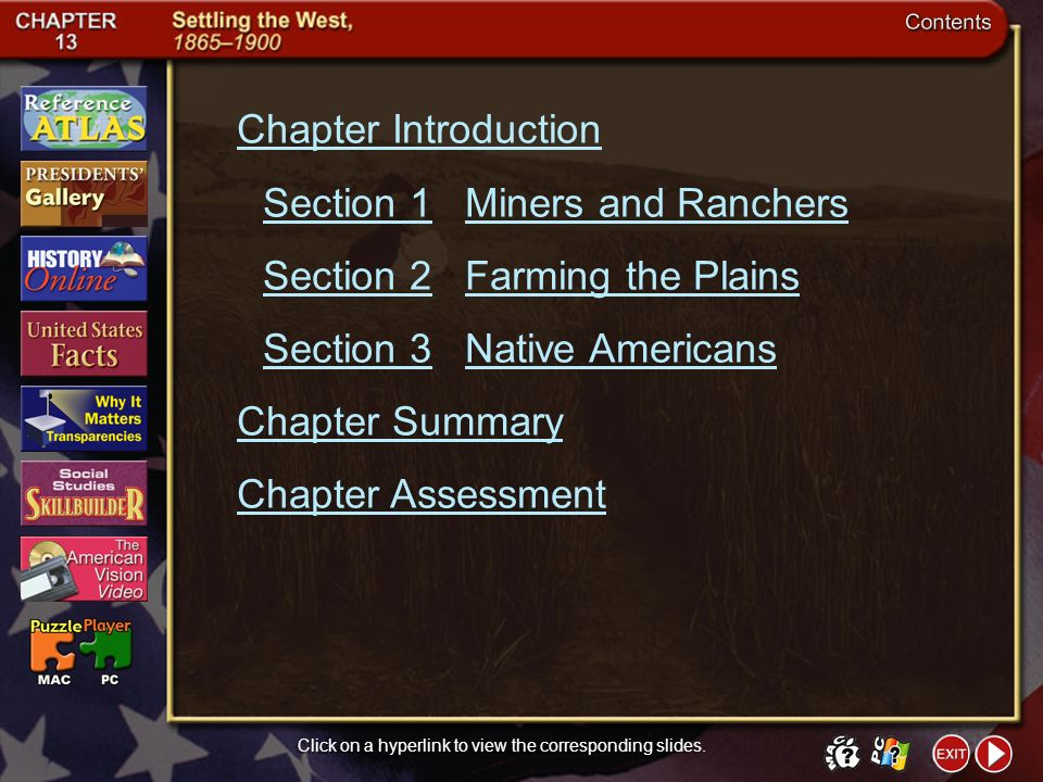 Chapter Assessment 8 Click the mouse button or press the Space Bar to display the answer.