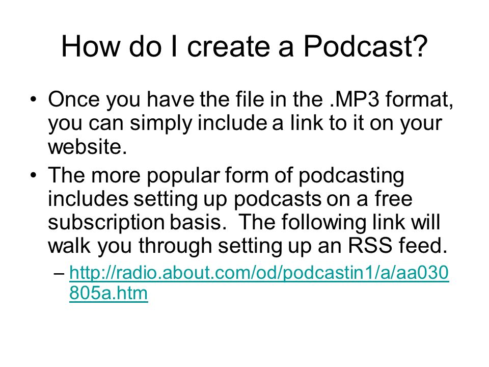 How do I create a Podcast.