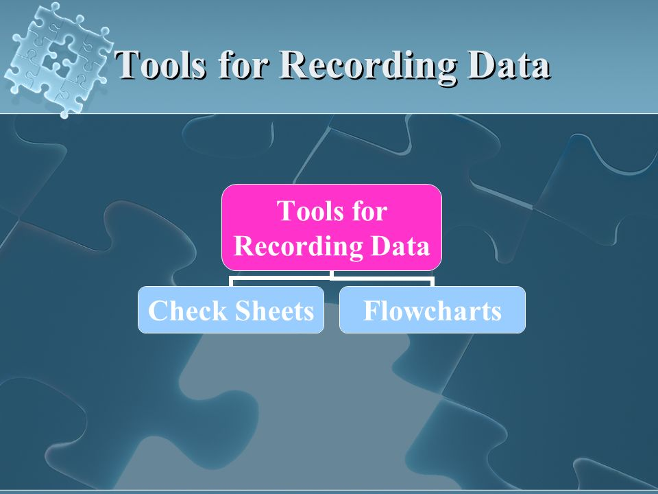 Tools for Recording Data