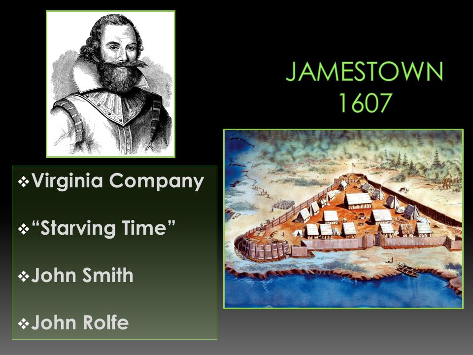Virginia Company Starving Time John Smith John Rolfe
