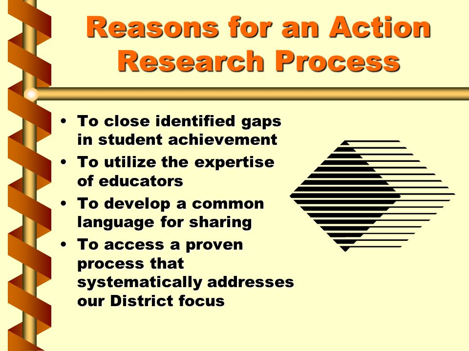 Reasons for an Action Research Process To close identified gaps in student achievementTo close identified gaps in student achievement To utilize the e