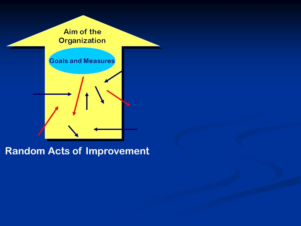 Goals and Measures Random Acts of Improvement Aim of the Organization