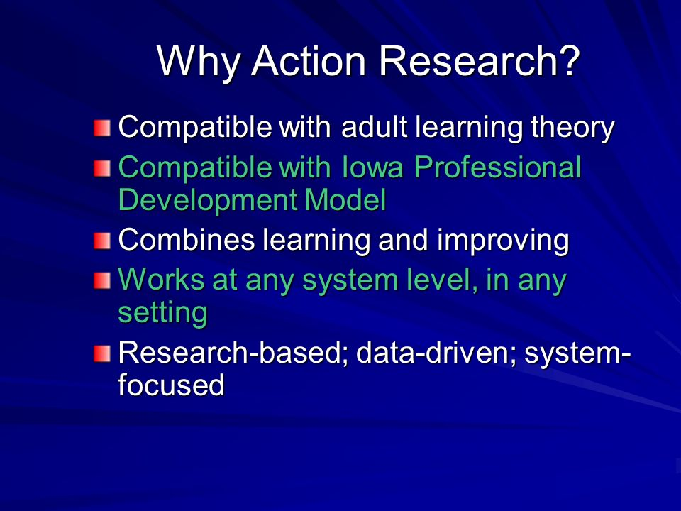 Why Action Research.