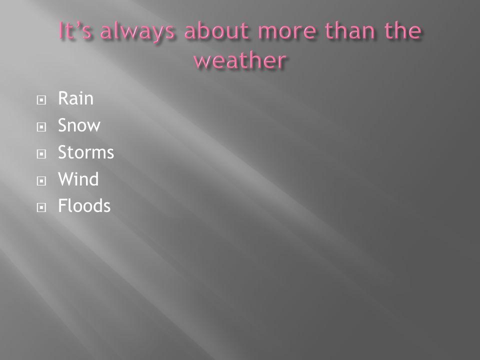 Rain Snow Storms Wind Floods