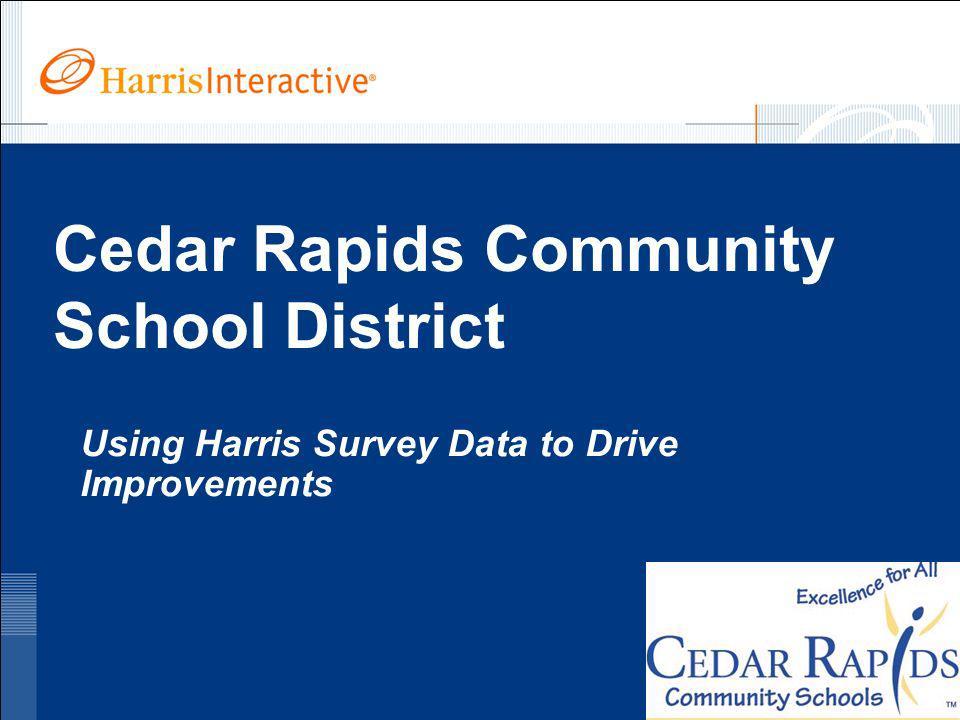www.harrisinteractive.com ©2005, Harris Interactive Inc. All rights reserved. Cedar Rapids Community School District Using Harris Survey Data to Drive