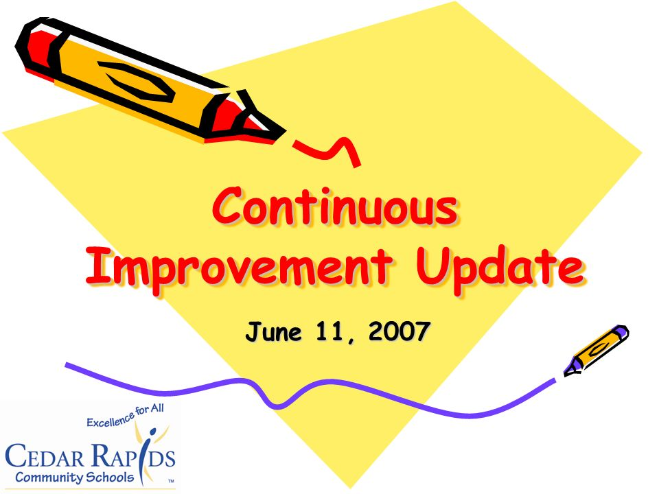 Continuous Improvement Update June 11, 2007