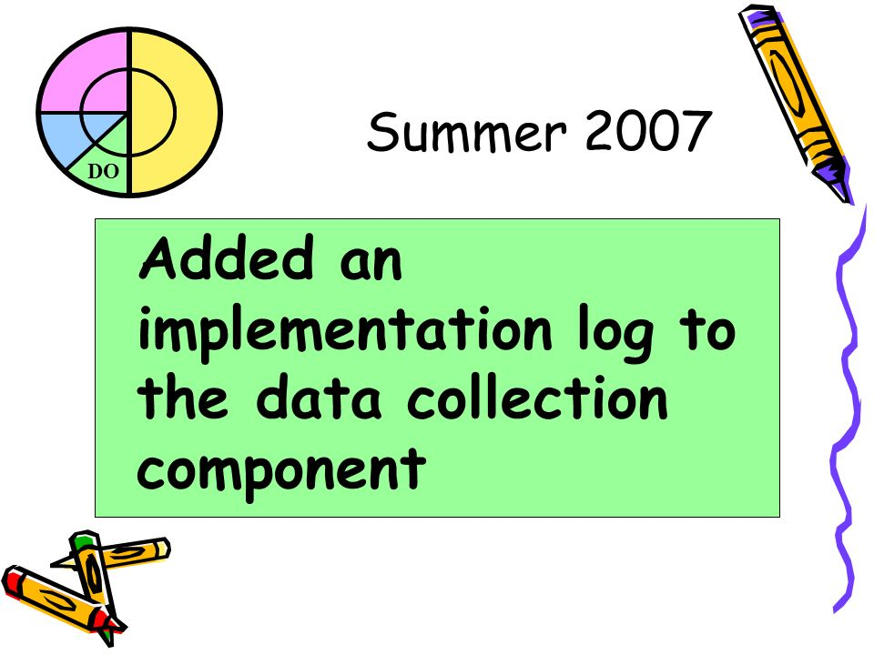 DO Summer 2007 Added an implementation log to the data collection component