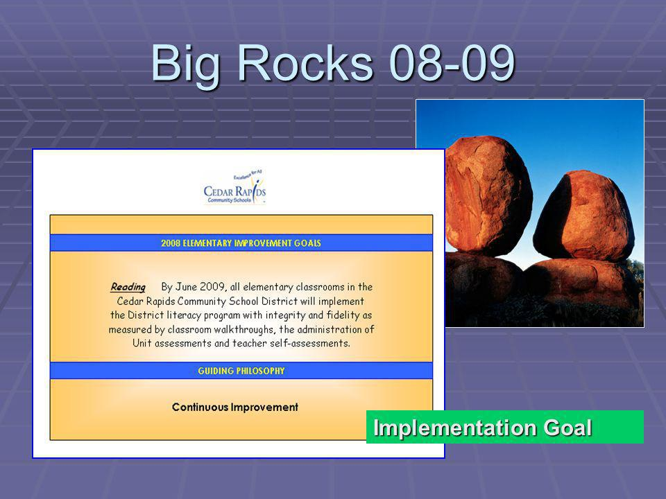 Big Rocks Implementation Goal