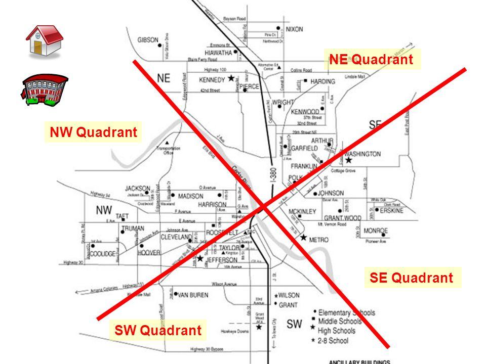 NE Quadrant SE Quadrant SW Quadrant NW Quadrant