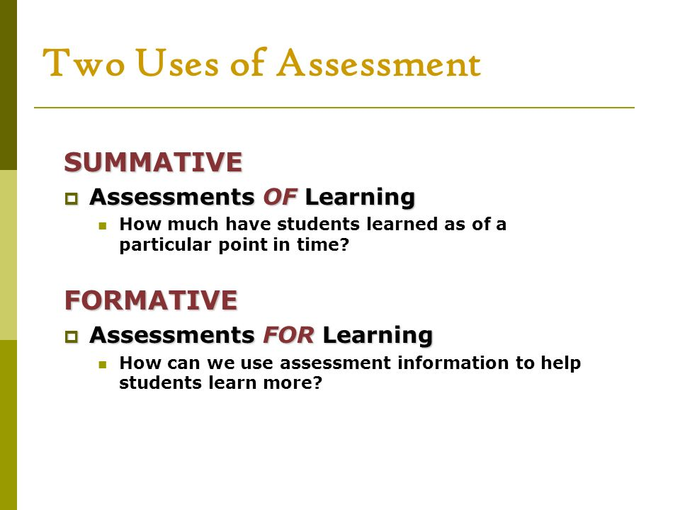 Balancing Assessment for and of Learning